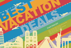 Banner for a travel agency Stock Photos