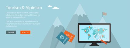 Banner for travel site Stock Image