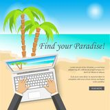 Banner for travel site Stock Photography