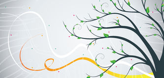 Banner with tree Stock Image