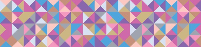 Banner with Triangle Shapes of Different colors. Vector Background royalty free illustration