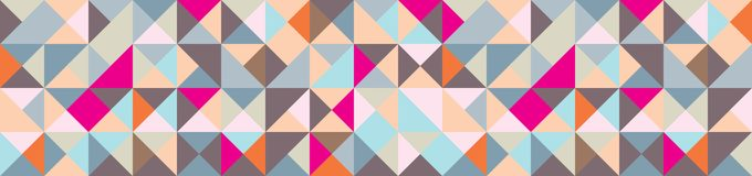 Banner with Triangle Shapes of Different colors. Vector Background vector illustration