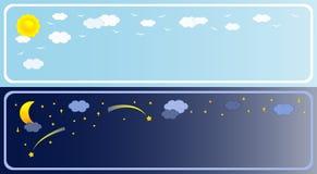 Banner twee van hemel royalty-vrije illustratie