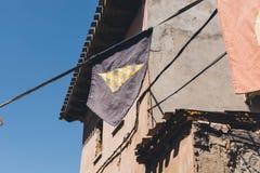 Banner typische straat Royalty-vrije Stock Foto's