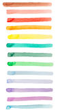Banner underline rainbow watercolor background. Isolated on white stock illustration