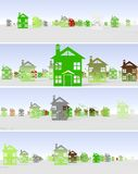 Banner urban construction Royalty Free Stock Images