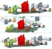 Banner urban construction Stock Photography