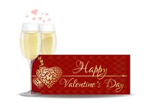 Banner for Valentines Day royalty free illustration
