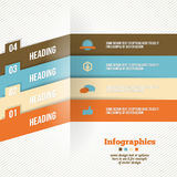 Banner van bedrijfs de Moderne Origamiopties Stock Afbeeldingen
