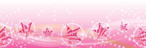 Banner van de de lijnwind van de ster de zijstreep vrouwelijke royalty-vrije illustratie