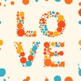 Banner van de Grunge de veelkleurige liefde royalty-vrije illustratie