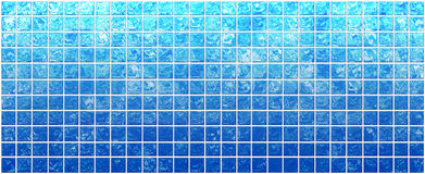 Banner van de iriserende blauwe vierkanten stock illustratie