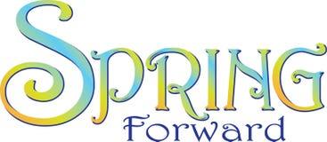 Banner van de de lente de Voorwaartse Tekst vector illustratie