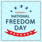 Banner van de Nationale Dag van Vrijheid van Amerika Vector Royalty-vrije Stock Foto's