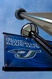 Banner van de Vlaamse gaaien van Toronto de Blauwe stock foto's