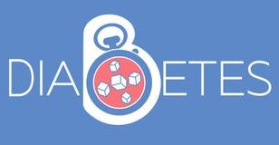 Banner van diabetes mellitus diagnose vector illustratie
