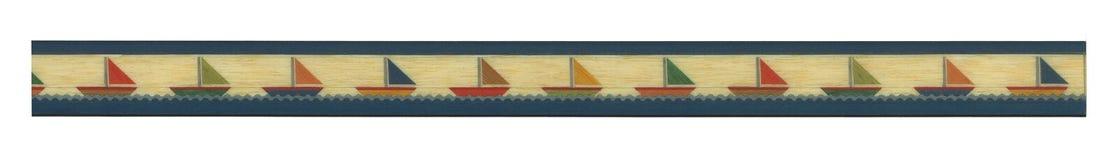 Banner van geïllustreerde zeilboot Stock Afbeeldingen
