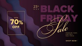 Banner van het de bevorderings vierkante Web van Black Friday de moderne voor sociale media stock illustratie