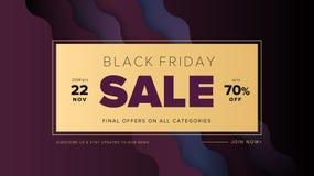 Banner van het de bevorderings vierkante Web van Black Friday de moderne voor sociale media royalty-vrije illustratie