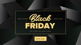 Banner van het de bevorderings vierkante Web van Black Friday de moderne voor sociale media vector illustratie