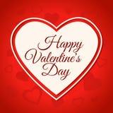Banner van het de dag de rode ontwerp van Valentine met harten stock illustratie