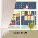 Banner van het de herfst de kleurrijke landschap Royalty-vrije Stock Fotografie