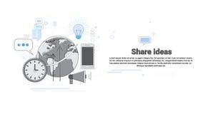 Banner van het de Samenwerking tussen bedrijvenconcept van het aandeelidee de Globale royalty-vrije illustratie