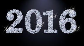 Banner van het diamant 2016 de Nieuwe jaar Royalty-vrije Stock Afbeelding