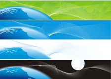 Banner van planeet Royalty-vrije Stock Afbeeldingen