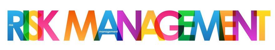 Banner van RISICOBEHEER de kleurrijke overlappende brieven vector illustratie