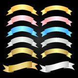 Banner (various colors) Royalty Free Stock Image