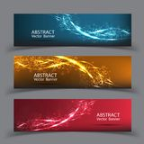 Banner vector abstract blue motion light effect background. Royalty Free Stock Photo