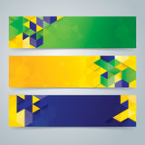 Banner vector background. Banner vector background in Brazilian flag color concept Royalty Free Stock Photography