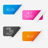 Banner Vector Elements Royalty Free Stock Image