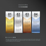Banner vector   gold, bronze, silver, blue color Stock Photography
