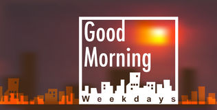 Banner vector with good morning concept Stock Image
