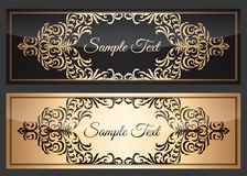 Banner vector template. Vector template of web banner or greeting card Royalty Free Stock Photo