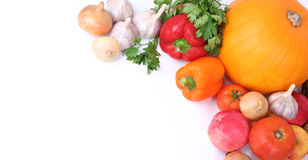 Banner with vegetables Royalty Free Stock Image