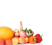 Banner with vegetables royalty free stock photography