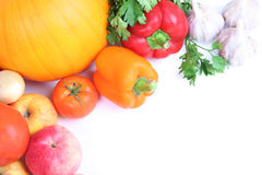Banner with vegetables Stock Photos