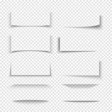 Banner, verdeler, de schaduw 3d gevolgen van de websitegrens met transparante randen royalty-vrije illustratie