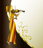 Banner with violinist. Playing classical violin Royalty Free Stock Photography