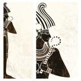 Banner, vlieger van osiris de oude Egypte Stock Afbeeldingen