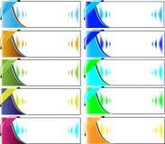 Banner/vliegerachtergronden vector illustratie