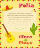 Banner voor Cinco de Mayo Stock Afbeeldingen