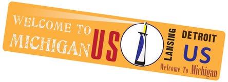Banner voor de Staat van Michigan Stock Foto