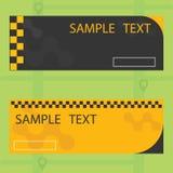 Banner voor taxibedrijven Stock Foto's
