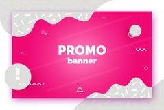 Banner voor verkoop, aanbieding, bevordering, reclame In vectorachtergrond, vlieger, affiche, pagina, dekking met samenvatting vector illustratie