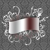 Banner on wallpaper Royalty Free Stock Photo