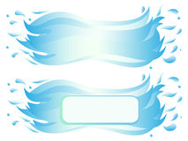Banner of water wave with splash Royalty Free Stock Image